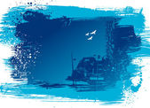 抽象的なブルーの背景 — ストックベクタ