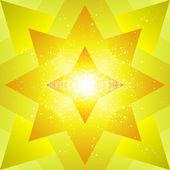 Gelber stern — Stockvektor