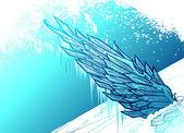 Ledový wing — Stock vektor