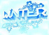 Fundo de inverno — Vetorial Stock