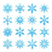 Schneeflocken set — Stockvektor