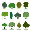 Tree set — Stock Vector
