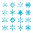 Snowflakes Collection — Vector de stock #7619411