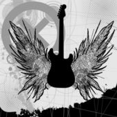 Vector rock guitar — Stock Vector