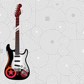 Vector guitar — Stock Vector