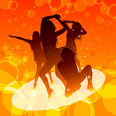 Dancing women — Stock Vector
