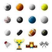Sport balls and objects icon — Stock Vector