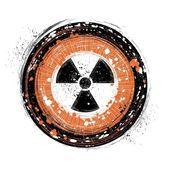 Radioactive background — Stock Vector