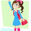 Stock Vector: School girl