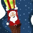 Royalty-Free Stock Векторное изображение: Santa claus  background