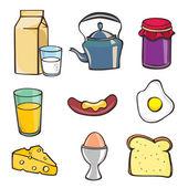 Breakfast icon set — Stock Vector