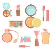 Conjunto de ícones de cosméticos — Vetor de Stock