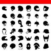 Vector helmet silhouette — Stock Vector