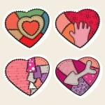 Decorative hearts — Stock Vector