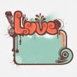 Decorative love background — 图库矢量图片