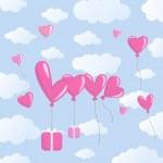 Love balloons — Stock Vector