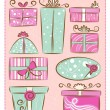 Decorative gift boxes — Vector de stock #7870638