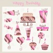 Birthday design elements — Stock Vector #7870658