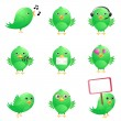 Cute birds — Vector de stock #7870671
