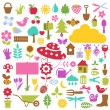 Nature icons — Stock Vector #7870675