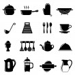 Kitchen objects set — Stock Vector