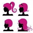 Hair styles - Stockvectorbeeld