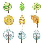 Árbol ornamental — Vector de stock