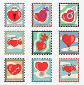 Corações decorativas — Vetor de Stock