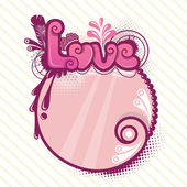 Decorative love background — Stock Vector