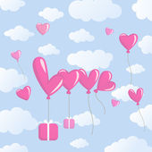 Love balloons — Vecteur