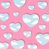 Dekorativa hjärtan — Stockvektor