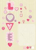 Cadeaux décoratifs coeur — Vecteur