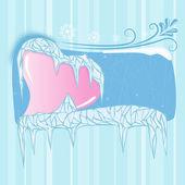 冰冻的心 — 图库矢量图片