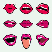 Lips vector — Stock Vector