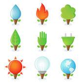 Ecological symbols — Stockvektor