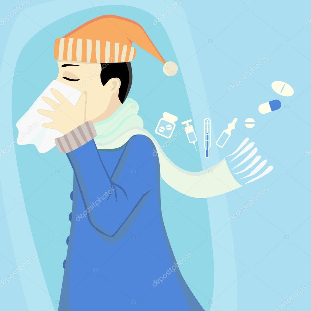Ill boy  vector — Stock Vector #7870512