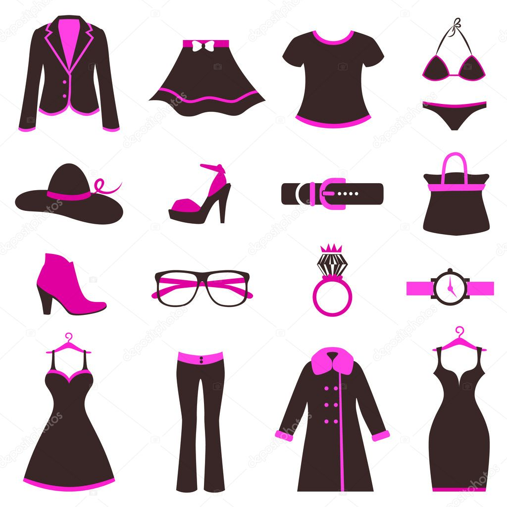 Women Fashion Icons Stock Vector Rocket400 7870709