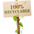 Eco friendly green sign — Stock Photo #6895163