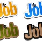 Job signs — Stock Photo