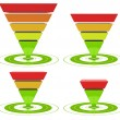 Conversion funnel inverted pyramid - Stock Photo