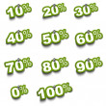 Set of percentage stickers — Stock Photo #6898159