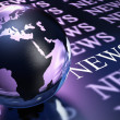 Stock Photo: Worldwide news background
