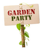 Garden party invitation card — Stock Photo