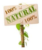 Green natural and bio sign — Stock Photo
