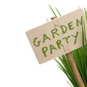 Garden party message — Stock Photo