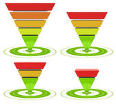 Conversion funnel inverted pyramid — Stock Photo