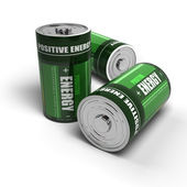 Positive energy - batteries concept, meditation, relaxation — Stock Photo