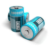 Battery concept, energy reaching success, positive energies — Stock Photo