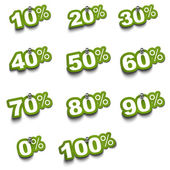 Set of percentage stickers — 图库照片
