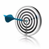 Doel of de doelstelling — Stockfoto
